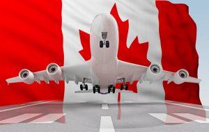 تصویر هواپیما و پرچم کانادا
