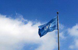 تصویری از پرچم سازمان ملل